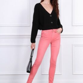 High waist trousers Toxik coral pink