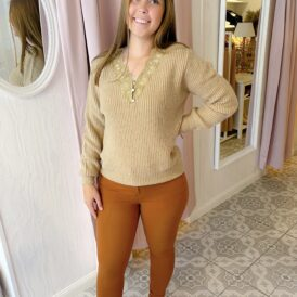 Sweater Cilou taupe