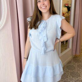 Dress June light blue