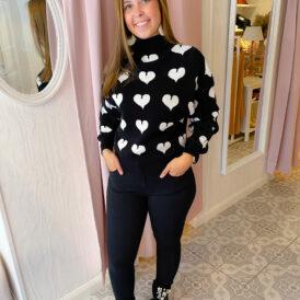 Sweater Hearts black