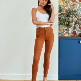 Trousers high waist Toxik camel
