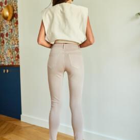 Trousers high waist Toxik beige