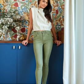 Trousers high waist Toxik kaki