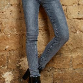 Trousers high waist Toxik jeans grey