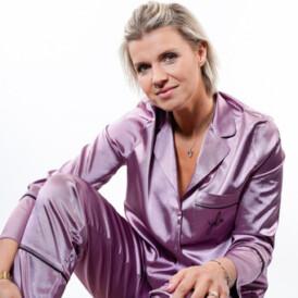 YENTLK BY YENTL Satin Pyjama lila