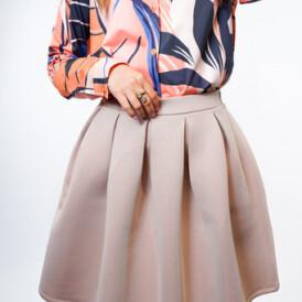 YENTLK BY YENTL Scuba Skirt beige