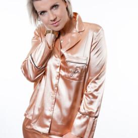 YENTLK BY YENTL Satin Pyjama beige