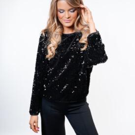 YENTLK BY YENTL Dexters Style Sweater black